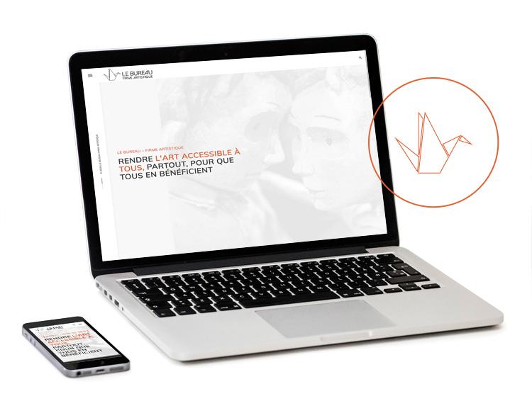 Le nouveau site internet pour Le Bureau - Firme Artistique prend vie!
